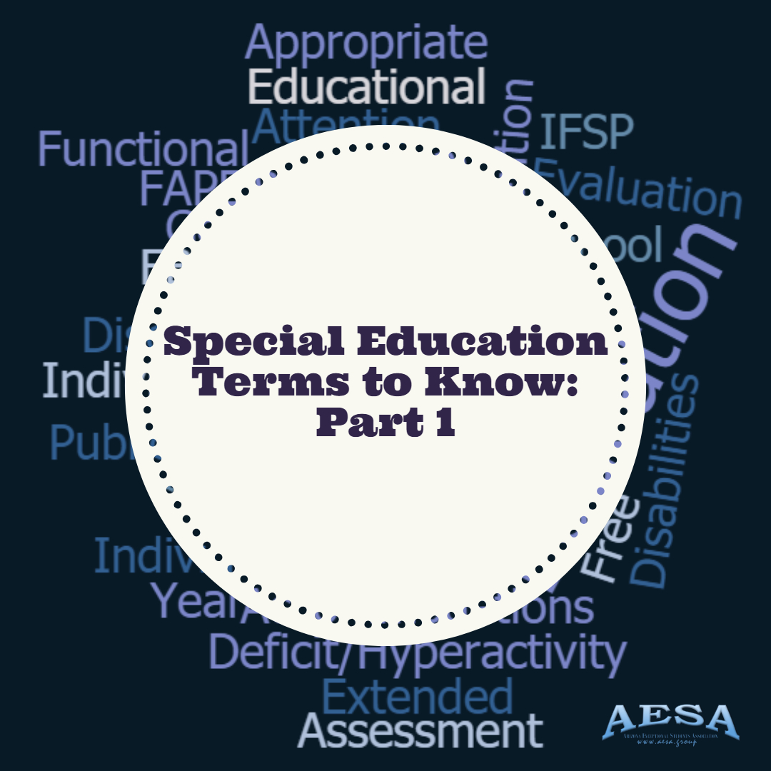 Special Education Terms To Know part 1