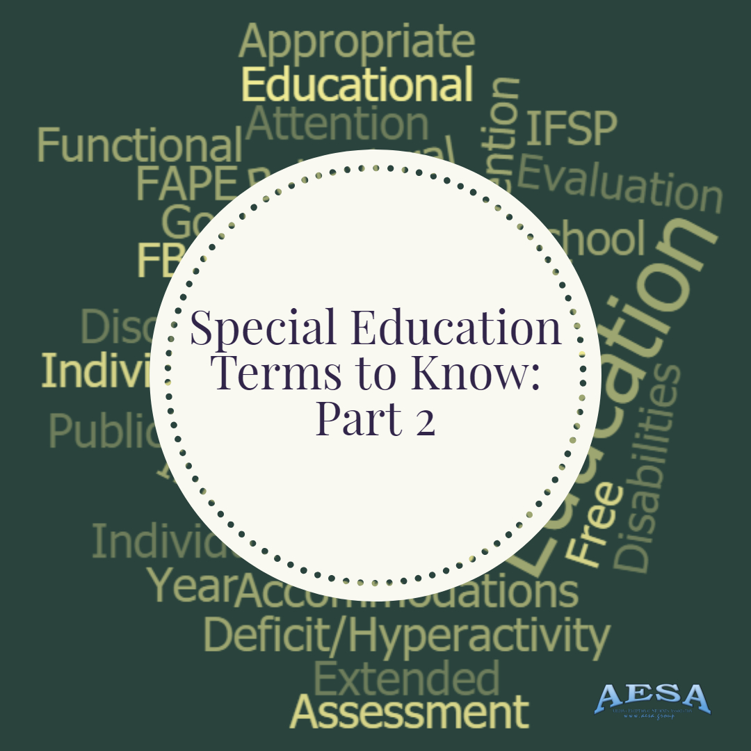 Special Needs Terms To Know Part 2