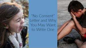 """""""No Consent"""" Letter and why you may want to write one"""